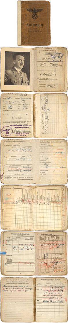 "SS SOLDBUCH ""Leibstandarte SS Adolf Hitler"". (Soldbuch)"