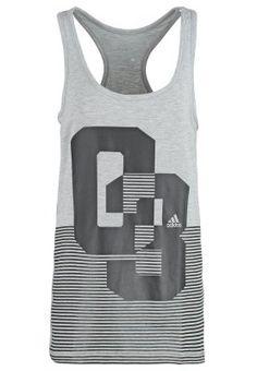 Top - medium grey/black