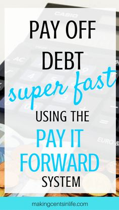 Pay off debt fast using the Pay it Forward system! I share with you some of the tips I used to reduce our debt faster than what I thought ever possible!
