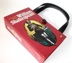 Book Purse Complete Works of William Shakespeare, Handmade Womens Handbag, Recycled Upcycled Bag by retrograndma on Etsy