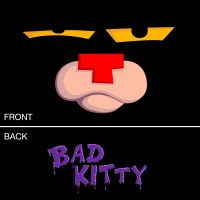 Bad Kitty Adult T-Shirt (Black) - Detailed item view - Wonder-Shirts