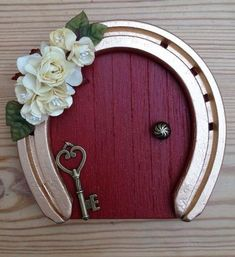 Wooden Fairy Door | 15 Easy, Clever ways to Reuse Old Horseshoes