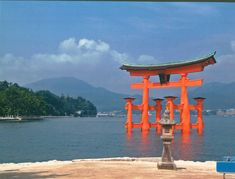 My favorite place in Japan! Absolutely mind-blowing, loved this place~ :D Miyajima, Cheap Holiday, Over The Hill, Sea Photo, Visit Japan, Far Away, Seattle Skyline, Marina Bay Sands, Scenery