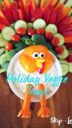Thanksgiving Food Crafts, Thanksgiving Dinner Recipes, Vegan Thanksgiving, Holiday Snacks, Holiday Recipes, Christmas Veggie Tray, November Holidays, Veggie Platters, Vegetarian Appetizers