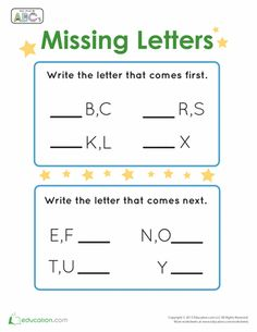 Worksheets, Beginning sounds and Letter sounds on Pinterest