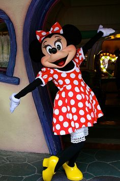 Red and white polka dot dress | Minnie Mouse