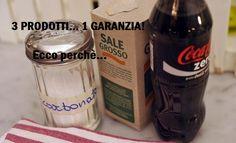 Coca cola bicarbonato e aceto per sturare lavandini e altri usi