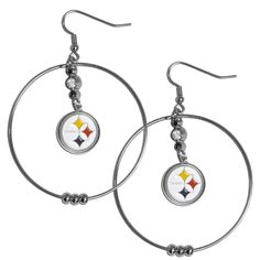 """Checkout our #LicensedGear products FREE SHIPPING + 10% OFF Coupon Code """"Official"""" Pittsburgh Steelers 2 Inch Hoop Earrings - Officially licensed NFL product Licensee: Siskiyou Buckle Large 2 inch hoops  Hypoallergenic fish hook posts Rhinestone accent above team logo Pittsburgh Steelers charm with enameled team colors - Price: $18.00. Buy now at https://officiallylicensedgear.com/pittsburgh-steelers-2-inch-hoop-earrings-fhe160"""