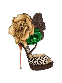 Designer Shoe Illustration~❥