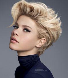 ... Short Hairstyles For Thick Hair, Thin Hair Haircuts, Short Hair Cuts For Women, Cool Hairstyles, Short Haircuts, Blonde Hairstyles, Hairstyle Ideas, Popular Haircuts, Hairstyles Haircuts