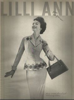 Lilli Ann. Model: Dorian Leigh. Circa: 1957. Magazine Advertisement. | eBay!