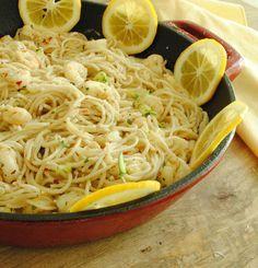 Fresh Lemon & Garlic Pasta with Shrimp. 30 minutes!