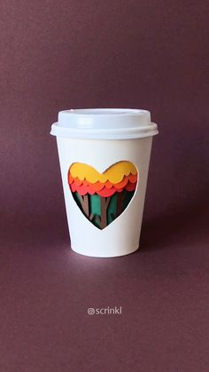 Paper Cup Crafts, Diy Crafts For Gifts, Fall Crafts, 3d Paper Art, Paper Artwork, Diy Paper, Coffee Cup Art, Coffee Girl, Paper Video