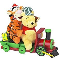 indoor animated christmas decorations animated poohtigger on train by gemmy american sale - Animated Christmas Decorations Indoor