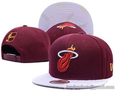 Miami Heat Snapback Caps Hats Wine White 83ffc34949f