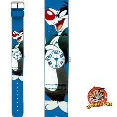 Ceasuri copii - Ceas de copii Sylvester Looney Tunes LN20 - Zibra