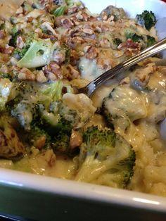 Recept voor een VZL overschotel met knolselderij en broccoli, en een zelfgemaakte kaassaus met walnoten, dus zonder pakjes of zakjes.