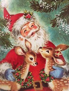 Vintage Christmas Images, Funny Christmas Cards, Christmas Scenes, Christmas Deer, Victorian Christmas, Christmas Music, Retro Christmas, Christmas Pictures, Christmas Humor