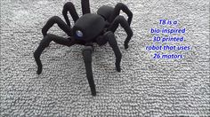 T8 the Bio Inspired 3D Printed Spider Octopod Robot / via mike estee