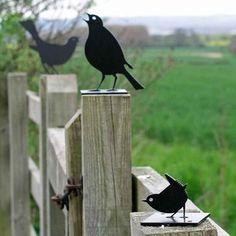 Bird Silhouettes - Fence Post Protectors  #garden