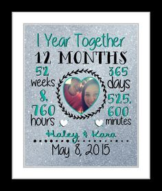 First anniversary gift, together 1 year anniversary gift for boyfriend…