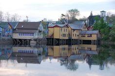 Bear River, Nova Scotia--artisan village on stilts.