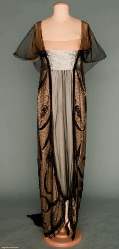 Worth Empire Evening Gown, Paris, C. 1912, Augusta Auctions, November 14, 2012 NEW YORK CITY, Lot 300