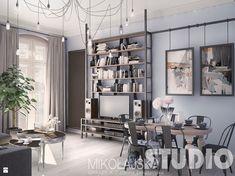 loftowy salon w kamienicy - zdjęcie od MIKOŁAJSKAstudio - Salon - Styl Nowoczesny - MIKOŁAJSKAstudio