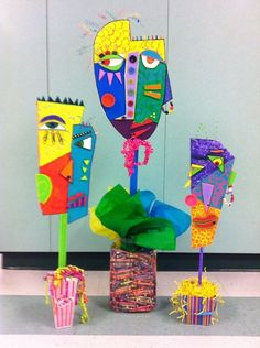 Artsonia Art Museum :: Artwork by Students11 for school project 'Personalities' Gr. 5  Influenced by Picasso