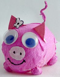 pig craft for kids lizzie would love this