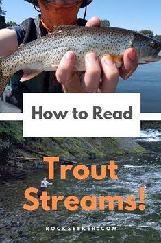 The best trout anglers know how read a river like a book. Here's how to READ… The best trout anglers Ice Fishing Tips, Trout Fishing Tips, Walleye Fishing, Sea Fishing, Saltwater Fishing, Fishing Guide, Fishing Reels, Fishing Tackle, Women Fishing
