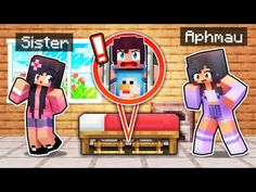 Teaching Your LITTLE SISTER In Minecraft! - YouTube Minecraft Videos, Minecraft Crafts, Diy Pokemon Cards, Aphmau Youtube, Little Sisters, Cute Drawings, Youtubers, Life Hacks, Unicorn