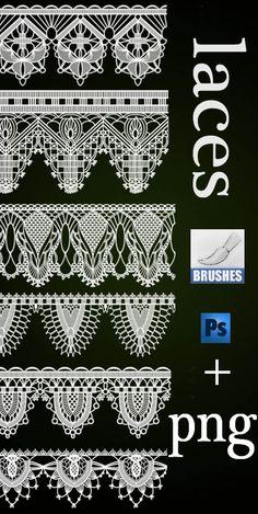 lace brushes by roula33.deviantart.com on @deviantART