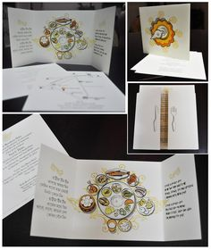 Invitation card for a kid's first rice eating ceremony