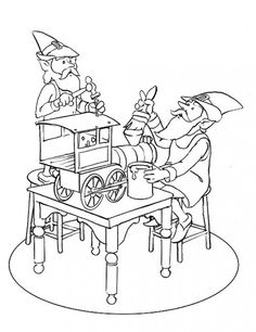 detailed christmas coloring pages coloring page of santas elves working - Detailed Christmas Coloring Pages