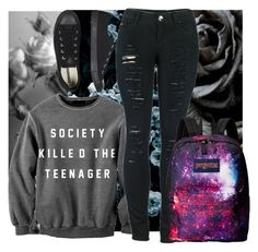 """Untitled #207"" by unorthodox-me ❤ liked on Polyvore featuring 2LUV, JanSport and Converse"