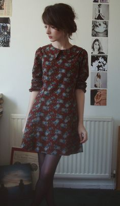 fashion, style, dress, pattern, burgundy, floral, up do
