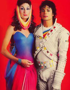 Angelica Huston and Michael Jackson