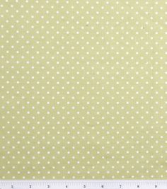 $7.99 Keepsake Calico Fabric-Green/White Dot & keepsake calico fabric at Joann.com