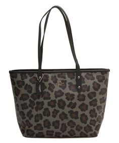 Love this Coach Silver & Gray Ocelot Canvas Tote by Coach on #zulily! #zulilyfinds