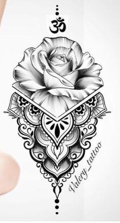 mandala tattoo flower rose * mandala tattoo flower , mandala tattoo flower of life , mandala tattoo flower rose Dope Tattoos, Thigh Tattoos, Body Art Tattoos, New Tattoos, Hand Tattoos, Small Tattoos, Sleeve Tattoos, Awesome Tattoos, Geisha Tattoo Sleeve