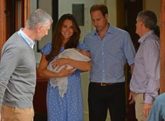 Britain's William and Kate emerge from hospital with baby - http://newsrule.com/britains-william-and-kate-emerge-from-hospital-with-baby/
