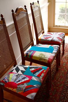 Patchwork dining chairs