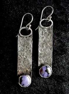 Bertrande Tiffany Stone Gemstone & Sterling Silver with enamel dangle??
