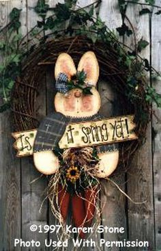Pretty Primitives By Karen Stone | it Spring Yet-Bunny, spring, Karen Stone, Pretty Primitives, primitive ...