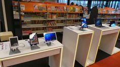 De Mediabar in Etten-Leur, waar de bibliotheek samenwerkt met een winkel: de lokale Expert. https://www.facebook.com/photo.php?fbid=591584674223195