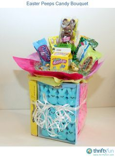This Easter candy bouquet is the perfect alternative to an Easter basket for an older child or an adult!