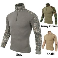 Wolf Warriors Army Camouflage Tactical T Shirt Men Long Sleeve Hunt Outdoor Long sleeve T-Shirt Camouflage Suit, Male T Shirt, Shirt Men, Tactical T Shirts, Wolf Warriors, Army Training, Types Of Jackets, Outdoor Fashion, Military Men