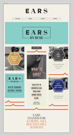 We love the vintage color palette used for EARS' website design! #webdesign #colorpalette #vintage