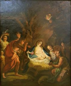 Adoration of the Shepherds / Adoración de los pastores // Last third of the 18th century // Circle of Francisco Bayeu // Legacy of Cardinal D. Ángel Suquía Goicoetxea // Museo Catedral de la Almudena // #Jesus #Christ #Christmas #Navidad